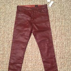 AG The Farrah Skinny Ankle Leatherette Jeans Sz 29